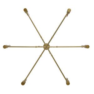 Kingston Winter Brass Six-Light Chandelier