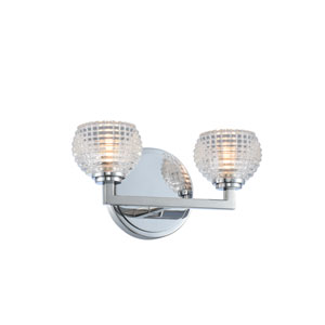 Marina Chrome Two-Light LED Bath Vanity