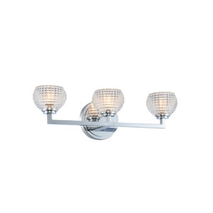 Marina Chrome Three-Light LED Bath Vanity