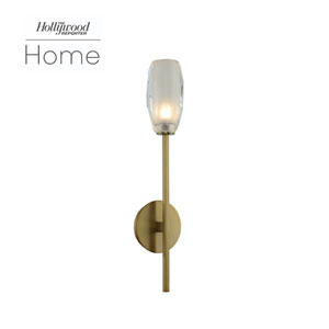 The Hollywood Reporter June Winter Brass Five-Inch One-Light LED Wall Sconce
