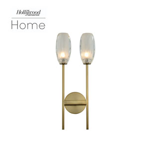 The Hollywood Reporter June Winter Brass Nine-Inch One-Light LED Wall Sconce