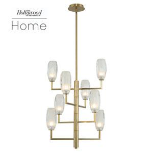 The Hollywood Reporter June Winter Brass Eight-Light LED Pendant