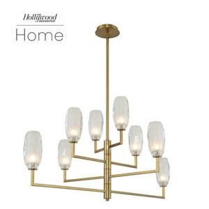 The Hollywood Reporter June Winter Brass Eight-Light LED Island Pendant