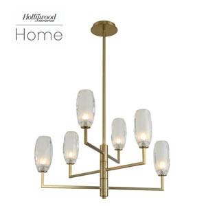 The Hollywood Reporter June Winter Brass Six-Light LED Chandelier