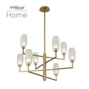 The Hollywood Reporter June Winter Brass Eight-Light LED Chandelier
