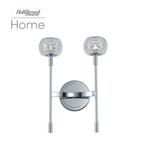 The Hollywood Reporter Mae Chrome Two-Light LED Wall Sconce