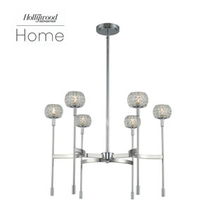 The Hollywood Reporter Mae Chrome Six-Light LED Chandelier