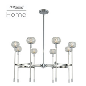 The Hollywood Reporter Mae Chrome Eight-Light LED Chandelier