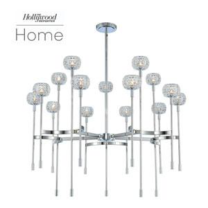 The Hollywood Reporter Mae Chrome 15-Light LED Chandelier