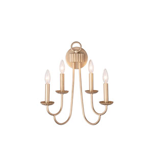 Kiera Modern Gold Four-Light Wall Sconce