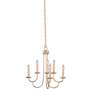 Kiera Modern Gold Six-Light Chandelier