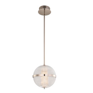 Portland Polished Nickel 10-Inch LED Pendant
