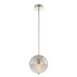 Portland Polished Nickel LED Pendant