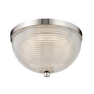 Portland Polished Nickel 10-Inch LED Flush Mount