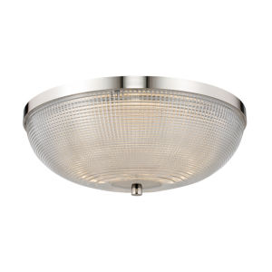 Portland Polished Nickel LED Flush Mount