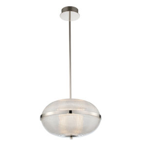 Portland Polished Nickel 19-Inch LED Pendant