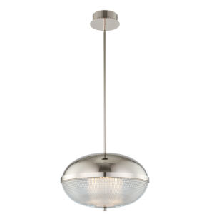 Portland Polished Nickel 16-Inch LED Pendant
