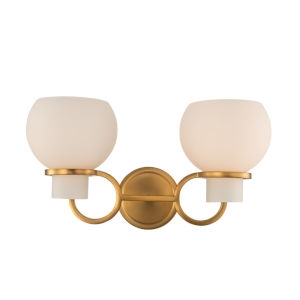 Ascher Winter Brass Two-Light Wall Sconce