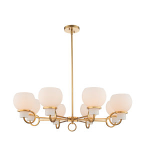 Ascher Winter Brass Eight-Light Chandelier