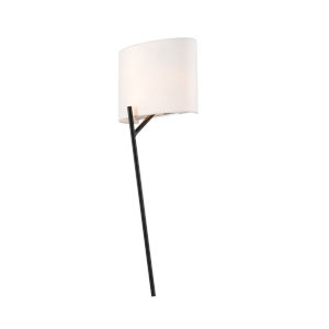 Tahoe Matte Black and Polished Nickel Two-Light ADA Wall Sconce