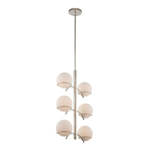 Everett Polished Nickel Six-Light Pendant