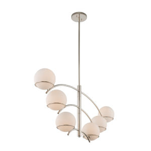 Everett Polished Nickel Six-Light Mini Chandelier