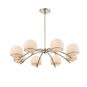 Everett Polished Nickel Eight-Light Chandelier