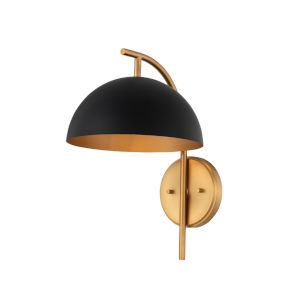 Marcel Matte Black and New Brass One-Light Wall Sconce