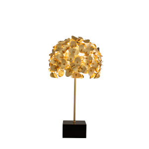 Aster Gold Three-Light Table Lamp