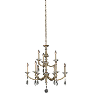 Floridia Gold Nine-Light Chandelier