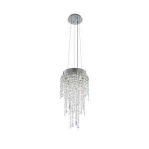 Tenuta Polished Chrome Three-Light Pendant with Firenze Crystal