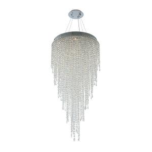 Tenuta Polished Chrome 10-Light Pendant with Firenze Crystal