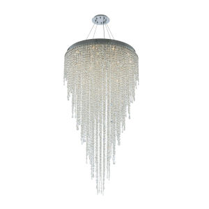 Tenuta Polished Chrome 16-Light Pendant with Firenze Crystal
