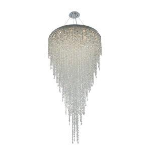 Tenuta Polished Chrome 21-Light Pendant with Firenze Crystal