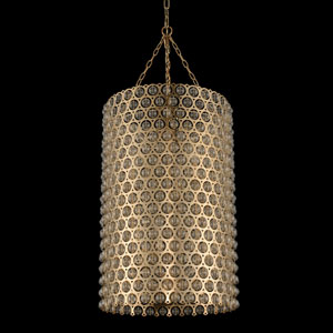 Vita Champagne Gold Six-Light Pendant With Firenze Clear Crystal
