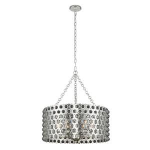Vita Polished Silver 26-Inch Six-Light Pendant
