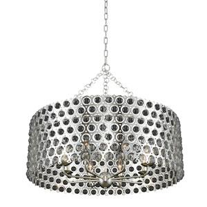 Vita Polished Silver Eight-Light Pendant