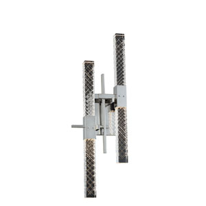 Apollo Chrome Nine-Inch Four-Light LED Wall Sconce with Firenze Crystal