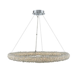 Lina Chrome 32-Inch LED Pendant with Firenze Crystal