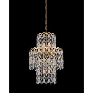 Caretta Antique Brass 18-Inch 12-Light Pendant with Firenze Crystal