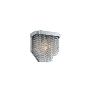 Tenda Chrome Nine-Inch One-Light Wall Sconce with Firenze Crystal