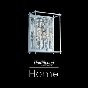 The Hollywood Reporter Joni Chrome Nine-Inch One-Light Wall Sconce with Firenze Crystal