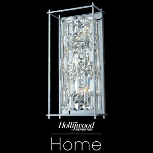 The Hollywood Reporter Joni Chrome Nine-Inch Three-Light Wall Sconce with Firenze Crystal