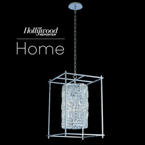 The Hollywood Reporter Joni Chrome 16-Inch Four-Light Pendant with Firenze Crystal