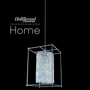 The Hollywood Reporter Joni Chrome 21-Inch Six-Light Pendant with Firenze Crystal