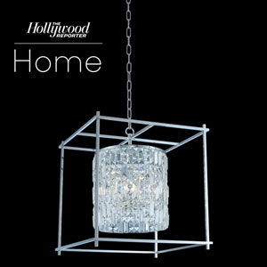 The Hollywood Reporter Joni Chrome 19-Inch Six-Light Pendant with Firenze Crystal