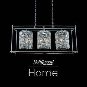 The Hollywood Reporter Joni Chrome 14-Inch Nine-Light Island Pendant with Firenze Crystal