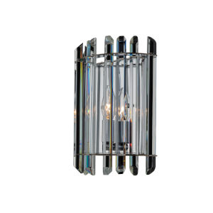 Viano Polished Chrome One-Light Wall Sconce with Firenze Crystal