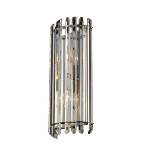 Viano Polished Chrome Two-Light Wall Sconce with Firenze Crystal