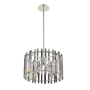 Viano Polished Chrome Four-Light Pendant with Firenze Crystal